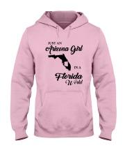 JUST AN ARIZONA GIRL IN A FLORIDA WORLD Hooded Sweatshirt front