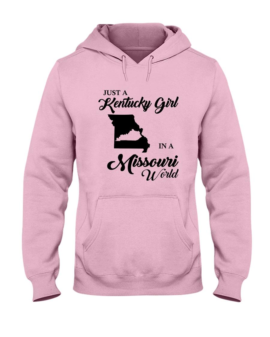 JUST A KENTUCKY GIRL IN A MISSOURI WORLD Hooded Sweatshirt