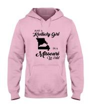JUST A KENTUCKY GIRL IN A MISSOURI WORLD Hooded Sweatshirt front
