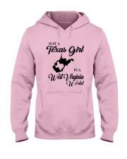 JUST A TEXAS GIRL IN A WEST VIRGINIA WORLD Hooded Sweatshirt tile