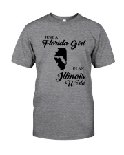 JUST A FLORIDA GIRL IN AN ILLINOIS WORLD Classic T-Shirt thumbnail