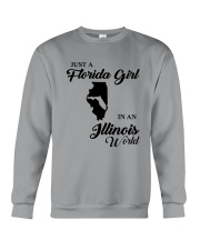 JUST A FLORIDA GIRL IN AN ILLINOIS WORLD Crewneck Sweatshirt thumbnail