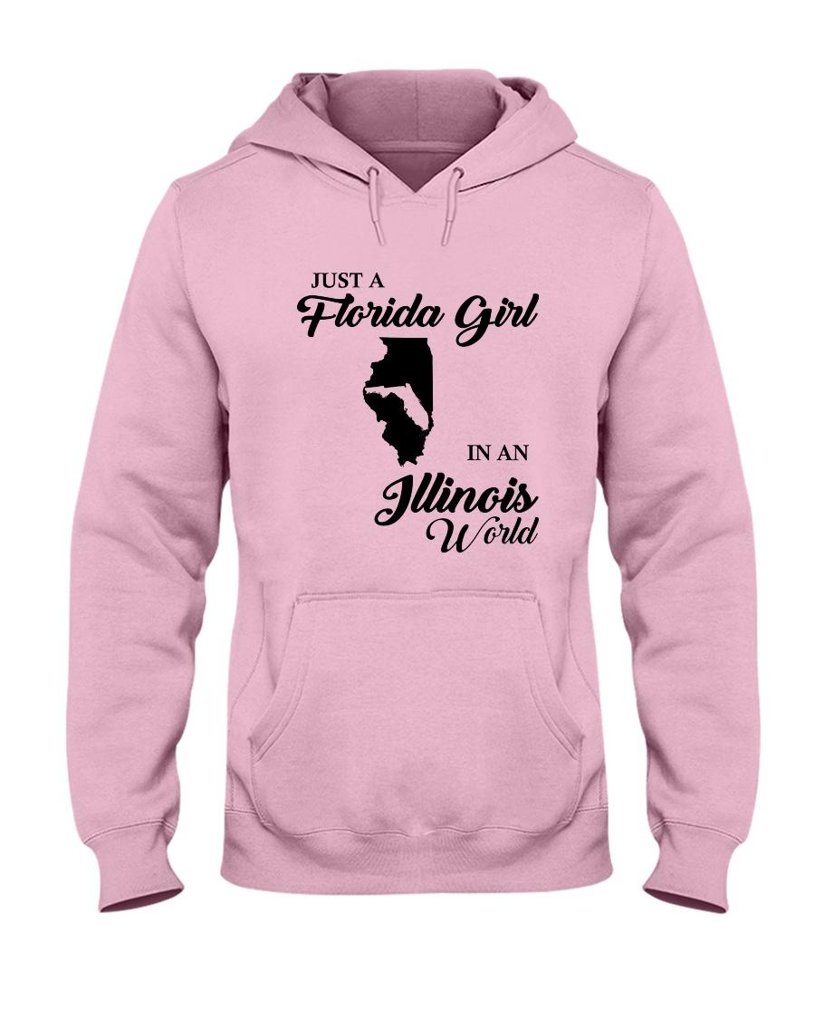 JUST A FLORIDA GIRL IN AN ILLINOIS WORLD Hooded Sweatshirt