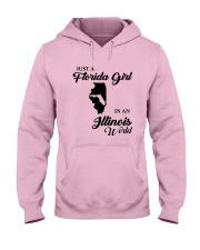 JUST A FLORIDA GIRL IN AN ILLINOIS WORLD Hooded Sweatshirt front