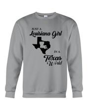 JUST A LOUISIANA GIRL IN A TEXAS WORLD Crewneck Sweatshirt thumbnail