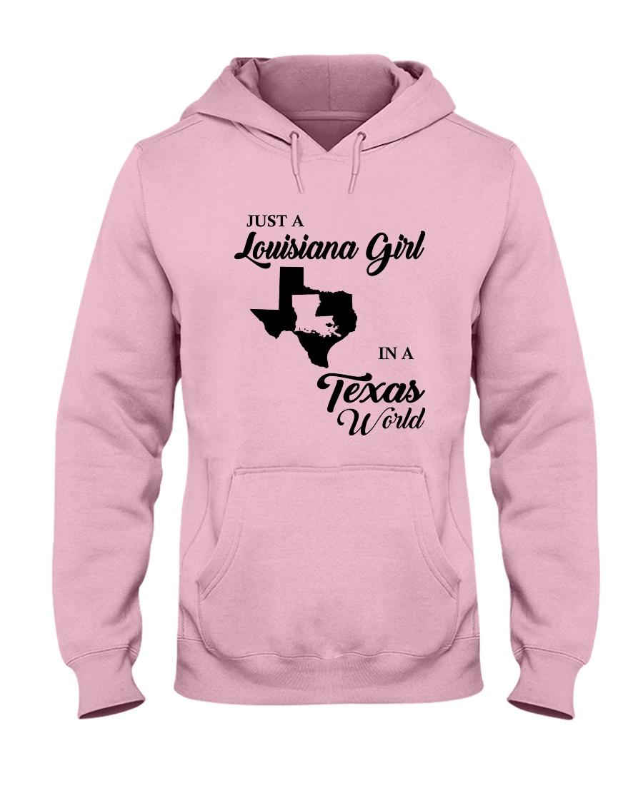 JUST A LOUISIANA GIRL IN A TEXAS WORLD Hooded Sweatshirt