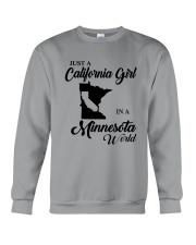 JUST A CALIFORNIA GIRL IN A MINNESOTA WORLD Crewneck Sweatshirt thumbnail
