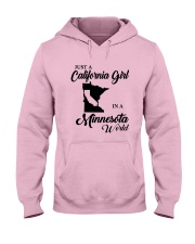 JUST A CALIFORNIA GIRL IN A MINNESOTA WORLD Hooded Sweatshirt front