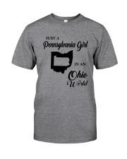 JUST A PENNSYLVANIA GIRL IN AN OHIO WORLD Classic T-Shirt thumbnail