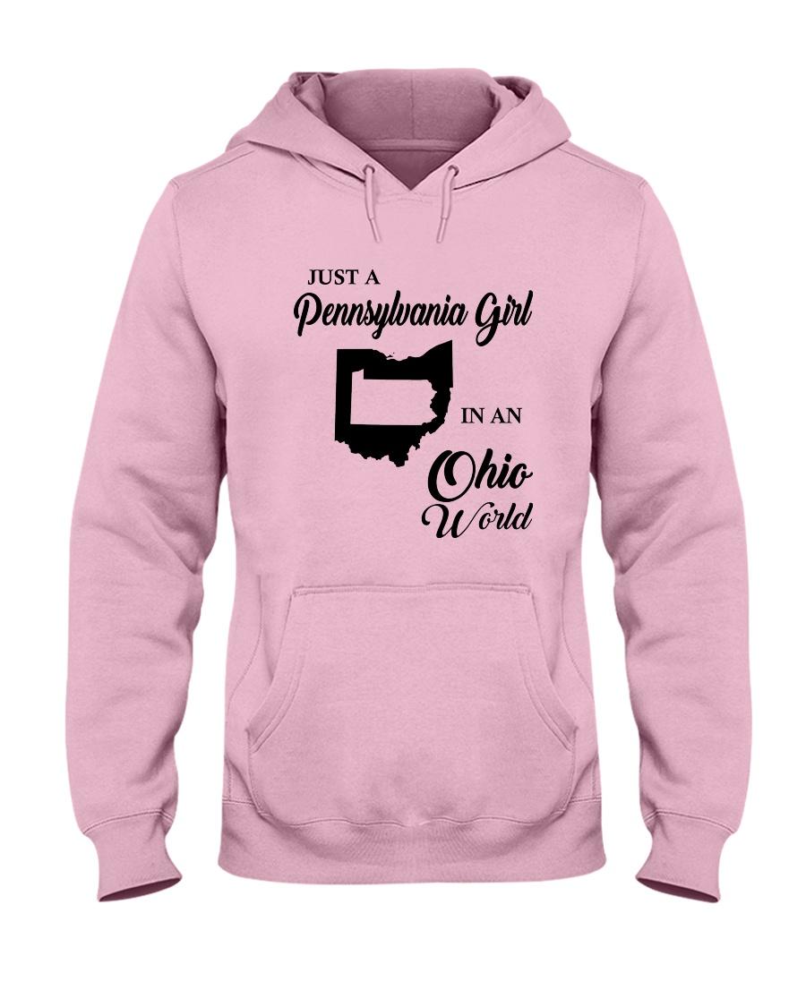 JUST A PENNSYLVANIA GIRL IN AN OHIO WORLD Hooded Sweatshirt
