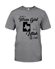 JUST A TEXAS GIRL IN A UTAH WORLD Classic T-Shirt thumbnail