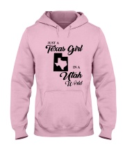 JUST A TEXAS GIRL IN A UTAH WORLD Hooded Sweatshirt front