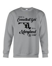 JUST A CONNECTICUT GIRL IN A MARYLAND WORLD Crewneck Sweatshirt thumbnail