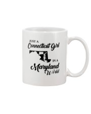 JUST A CONNECTICUT GIRL IN A MARYLAND WORLD Mug thumbnail