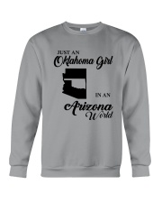 JUST AN OKLAHOMA GIRL IN AN ARIZONA WORLD Crewneck Sweatshirt thumbnail