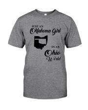 JUST AN OKLAHOMA GIRL IN AN OHIO WORLD Classic T-Shirt thumbnail