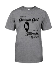JUST A GEORGIA GIRL IN AN ILLINOIS WORLD Classic T-Shirt tile
