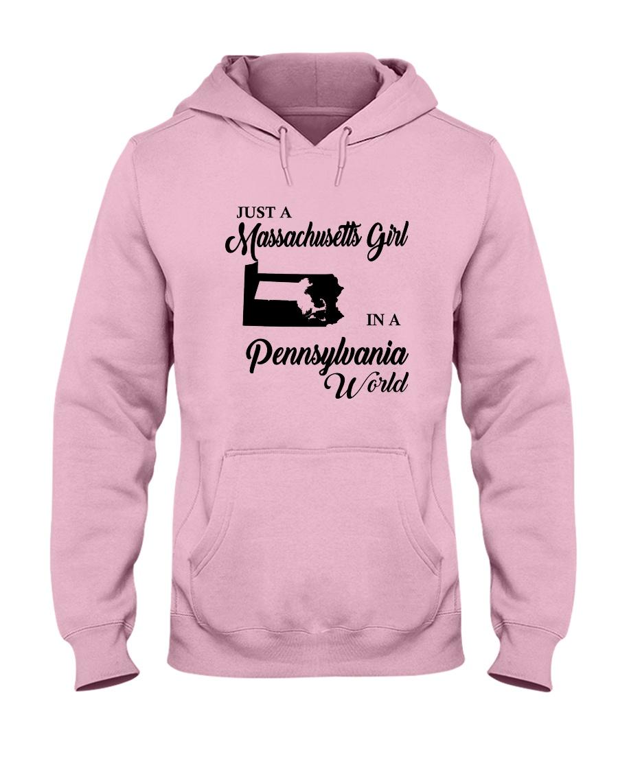 JUST A MASSACHUSETTS GIRL IN A PENNSYLVANIA WORLD Hooded Sweatshirt