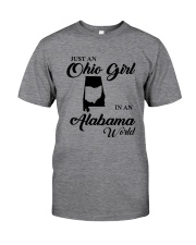 JUST An OHIO GIRL IN An ALABAMA WORLD Classic T-Shirt tile