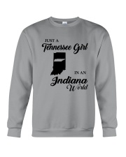 JUST A TENNESSEE GIRL IN AN INDIANA WORLD Crewneck Sweatshirt thumbnail