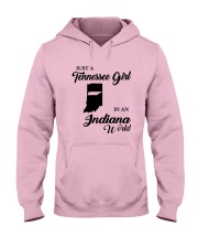 JUST A TENNESSEE GIRL IN AN INDIANA WORLD Hooded Sweatshirt front