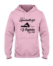 JUST A MASSACHUSETTS GIRL IN A VIRGINIA WORLD Hooded Sweatshirt front