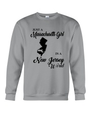 JUST A MASSACHUSETTS GIRL IN A NEW JERSEY WORLD Crewneck Sweatshirt thumbnail