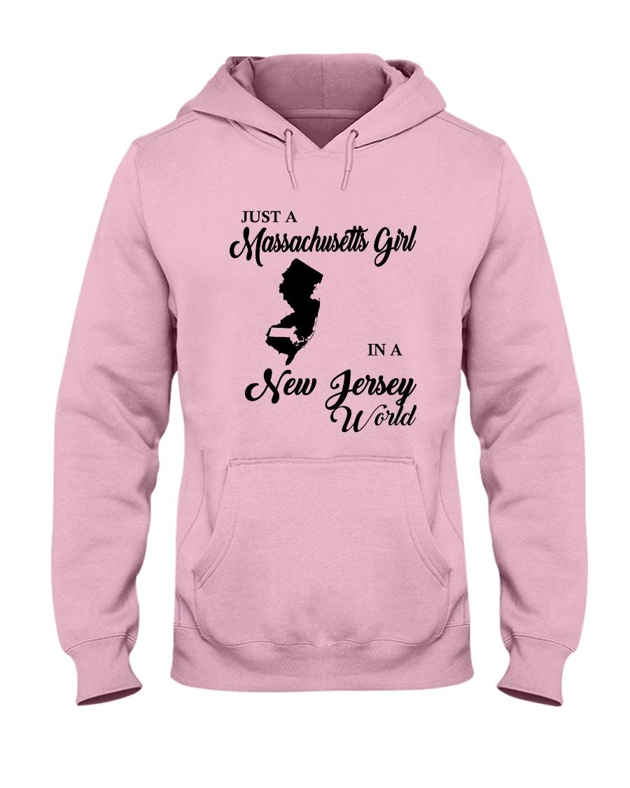 JUST A MASSACHUSETTS GIRL IN A NEW JERSEY WORLD Hooded Sweatshirt
