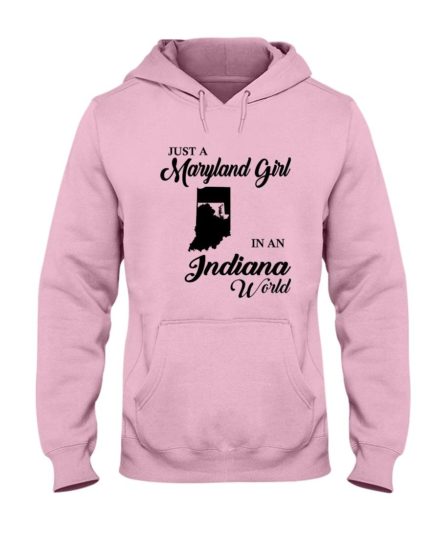 JUST A MARYLAND GIRL IN An INDIANA WORLD Hooded Sweatshirt