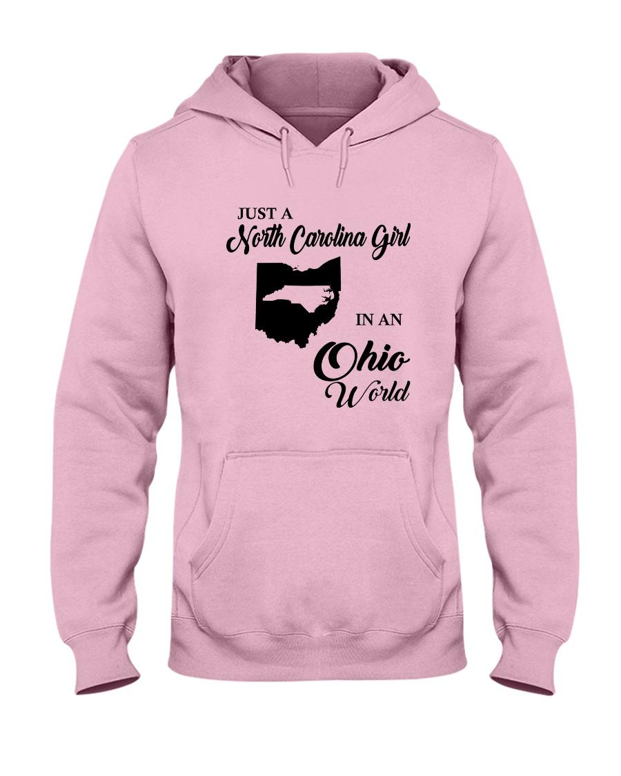 JUST A NORTH CAROLINA GIRL IN AN OHIO WORLD Hooded Sweatshirt