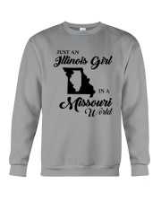 JUST AN ILLINOIS GIRL IN A MISSOURI WORLD Crewneck Sweatshirt thumbnail