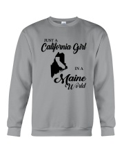 JUST A CALIFORNIA GIRL IN A MAINE WORLD Crewneck Sweatshirt tile