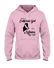 JUST A CALIFORNIA GIRL IN A MAINE WORLD Hooded Sweatshirt front