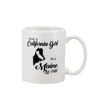 JUST A CALIFORNIA GIRL IN A MAINE WORLD Mug tile