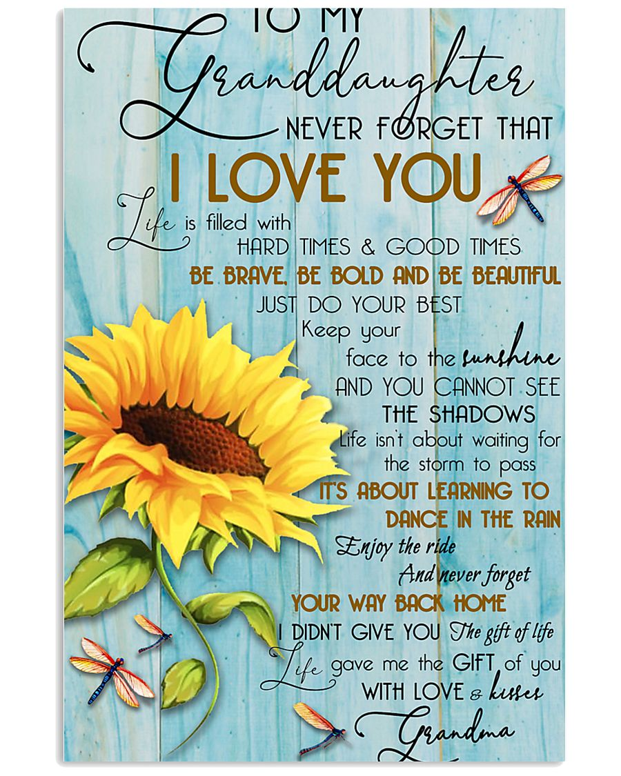 DRF-0106 To my granddaughter 11x17 Poster