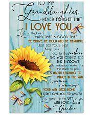 DRF-0106 To my granddaughter 11x17 Poster front