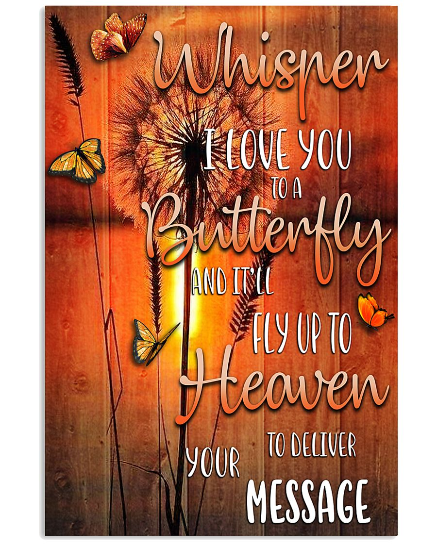 BTF-0102 whisper I love you to a butterfly 11x17 Poster