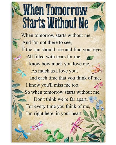DRF-0104 When Tomorrow Starts Without Me Memorial