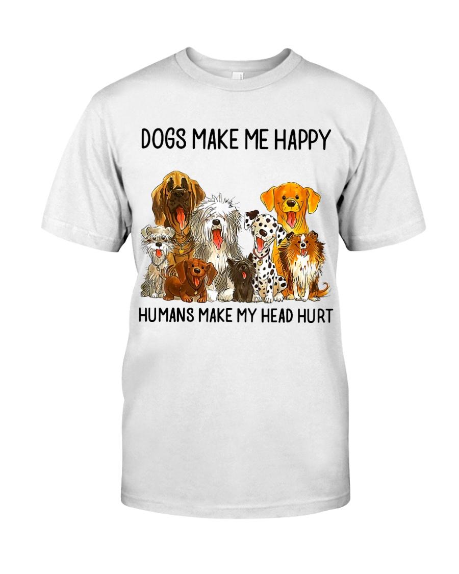 Dogs Make Me Happy shirt Classic T-Shirt