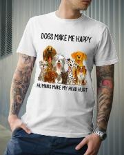 Dogs Make Me Happy shirt Classic T-Shirt lifestyle-mens-crewneck-front-6