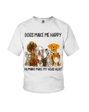 Dogs Make Me Happy shirt Youth T-Shirt thumbnail