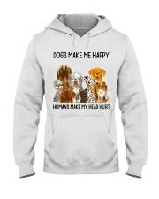 Dogs Make Me Happy shirt Hooded Sweatshirt thumbnail