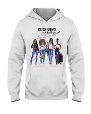 Catch Flights Not Feelings Summer Hooded Sweatshirt thumbnail