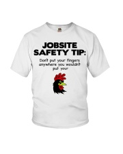 Jobsite Safety Tip Don't Put Your Fingers Anywhere Youth T-Shirt thumbnail