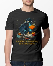 In A World Of Bookworms Be A Book Dragon Classic T-Shirt lifestyle-mens-crewneck-front-13