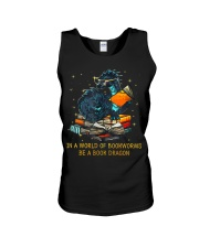 In A World Of Bookworms Be A Book Dragon Unisex Tank thumbnail