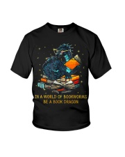 In A World Of Bookworms Be A Book Dragon Youth T-Shirt thumbnail