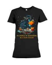 In A World Of Bookworms Be A Book Dragon Premium Fit Ladies Tee thumbnail
