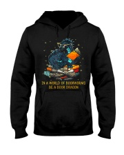 In A World Of Bookworms Be A Book Dragon Hooded Sweatshirt thumbnail