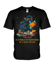 In A World Of Bookworms Be A Book Dragon V-Neck T-Shirt thumbnail